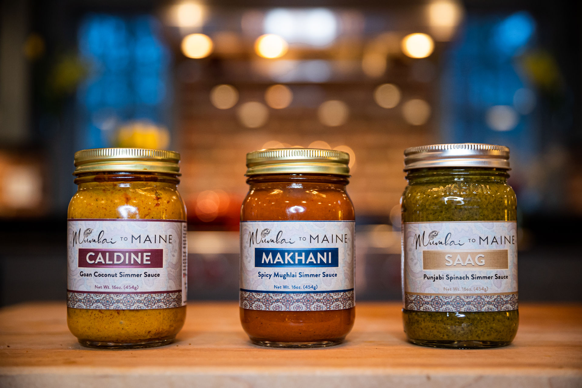 Mumbai to Maine Signature Simmer Sauces - Caldine, Makhani and Saag
